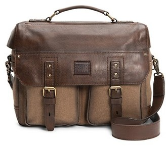 Frye Ethan Leather-Trim Messenger Bag