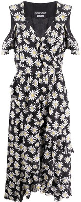 Boutique Moschino Floral-Print Ruffled Dress