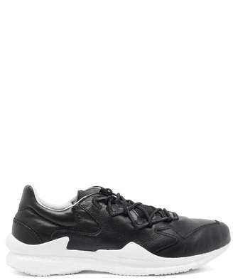Y-3 Y 3 Adizero Leather Trainers - Mens - Black