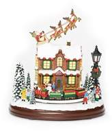 Roman Santa Over House Musical Figurine