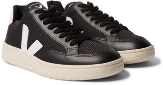 Veja V-12 Leather-Trimmed B-Mesh Sneakers