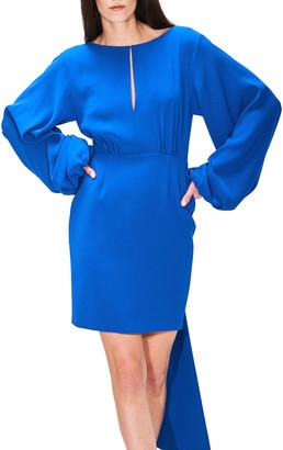 Toccin Tie-Back Crepe Blouson Dress