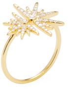 Artisan 18K Yellow Gold & 0.34 Total Ct. Diamond Star Ring