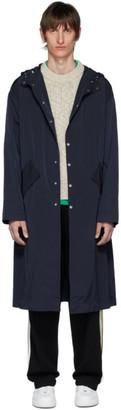 Kenzo Navy Kanji Hooded Raincoat