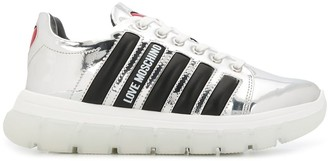 Love Moschino Stripe-Side Low-Top Trainers