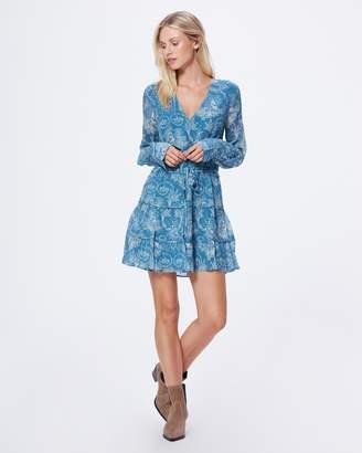 Paige CHRISTINE DRESS-BLUE SHADOW - TOILE DE JOUY