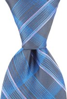 Murano Spike Plaid Traditional Silk Tie