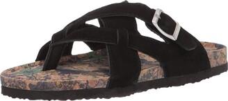 Muk Luks Women's Shayna Terra Turf-Black Sandal 8 M US