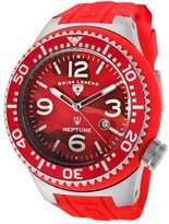 Swiss Legend Men's Neptune Red Camouflage Dial Red Silicone SL-11852C-05 Watch