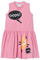 Fendi Pink Monster Print Jersey Dress