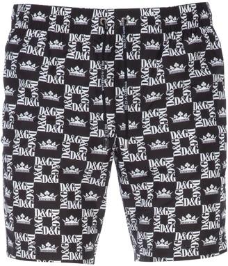 Dolce & Gabbana Allover Monogram Swim Shorts