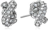 Kate Spade Sailor's Knot Silver-Tone Pave Stud Earrings