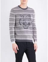 Kenzo Tiger-print Cotton Jumper