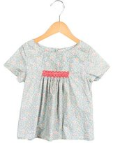 Bonpoint Girls' Floral Print Embroidered Top