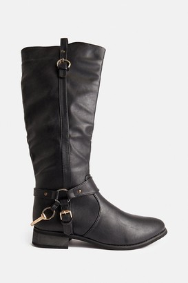 Coast Knee High Buckle Detail Riding Boots