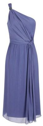 Dorothy Perkins Womens Little Mistress Lavender Gunmetal One Shoulder Midi Dress