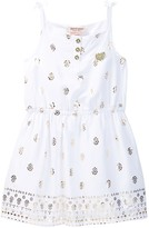 Juicy Couture Gold Foil Print Dress (Toddler Girls)