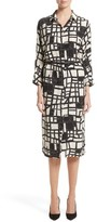 Max Mara Women's Aligi Print Silk Dress