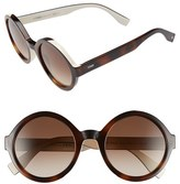 Fendi Women's 51Mm Round Sunglasses - Havana/ Cream