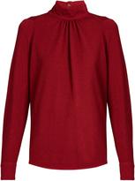 Golden Goose Deluxe Brand Marian high-neck crepe blouse