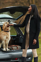 Lands' End Women's Tall Wool Car Coat-Gemstone Teal