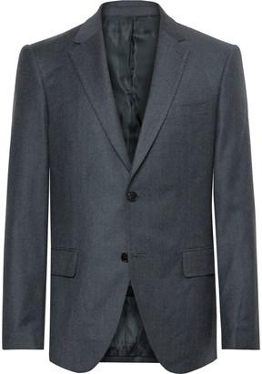 Club Monaco Navy Slim-Fit Wool-Flannel Suit Jacket