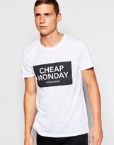 Cheap Monday T-shirt Bruce Inverted Box Logo Print - White