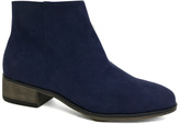 Bamboo Navy Saber Ankle Boot