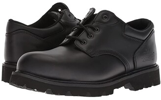 Thorogood Uniform Classic Leather Oxford Steel Safety Toe (Black) Men's Work Boots