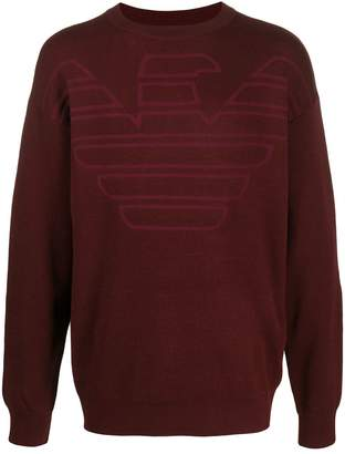 Emporio Armani relaxed-fit eagle logo jumper