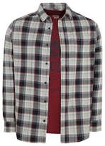 George Grey Check Long Sleeve Shirt and T-Shirt Set