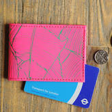 Undercover Recycled Leather Pink Palm Print Oyster Card Holder