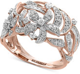 Effy Diamond Openwork Ring (5/8 ct t.w.) in 14k Rose Gold