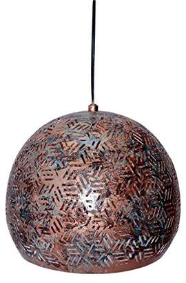 STUDY Lamps and Light, Iron, New Elegance Basket Kitchen Round Moroccan Pendant Lamp in Hexa Design, 35 x 35 x 32 cm, Green Patina[Energy Class A++], Perfect for Kitchen, Drawing Room, Bed Room, Room, Hall Way etc.