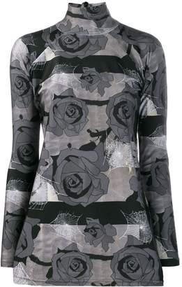 Barbara Bologna floral print mock neck top
