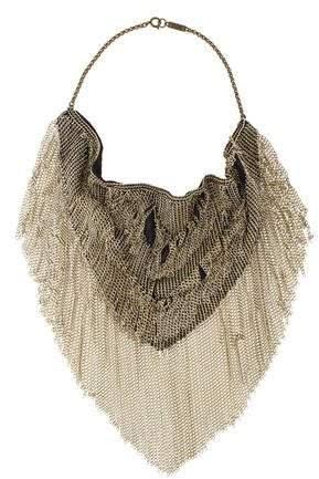 Isabel Marant Linares Fringe Bib Necklace