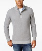 Weatherproof Vintage Men's Mock Turtleneck Button Sweater, Classic Fit