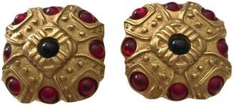 Azzaro Loris Gold Metal Earrings