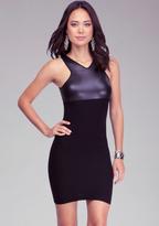 Bebe Leatherette Bodycon Dress