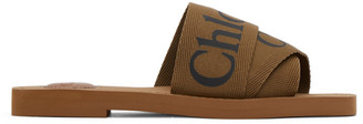 Chloé Brown Woody Sandals