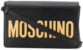 Moschino logo flap shoulder bag