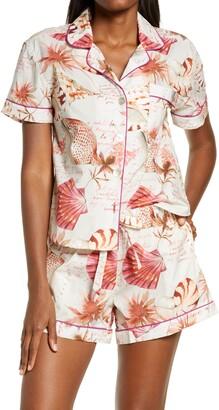 The Lazy Poet Nina Seashells Cotton Short Pajamas