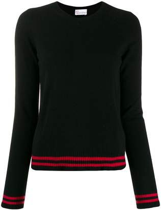 RED Valentino contrast striped trim jumper