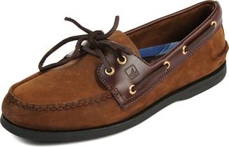 Sperry Mens A/O 2-Eye Boat Shoe Brown/Buc Brown 6