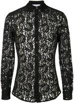 Moschino sheer lace shirt - men - Polyamide/Rayon - 41