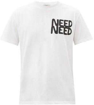 Valentino Need Need-print Cotton-jersey T-shirt - White