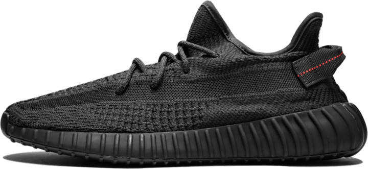 Adidas Yeezy Boost 350 V2 'Black - Static' Shoes - Size 4