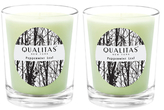 Qualitas Candles Peppermint Leaf Beeswax Candles (Set of 2) (6.5 OZ)