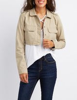 Charlotte Russe Cropped Anorak Jacket