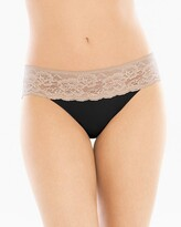 Vanishing Edge Microfiber with Lace Hipster